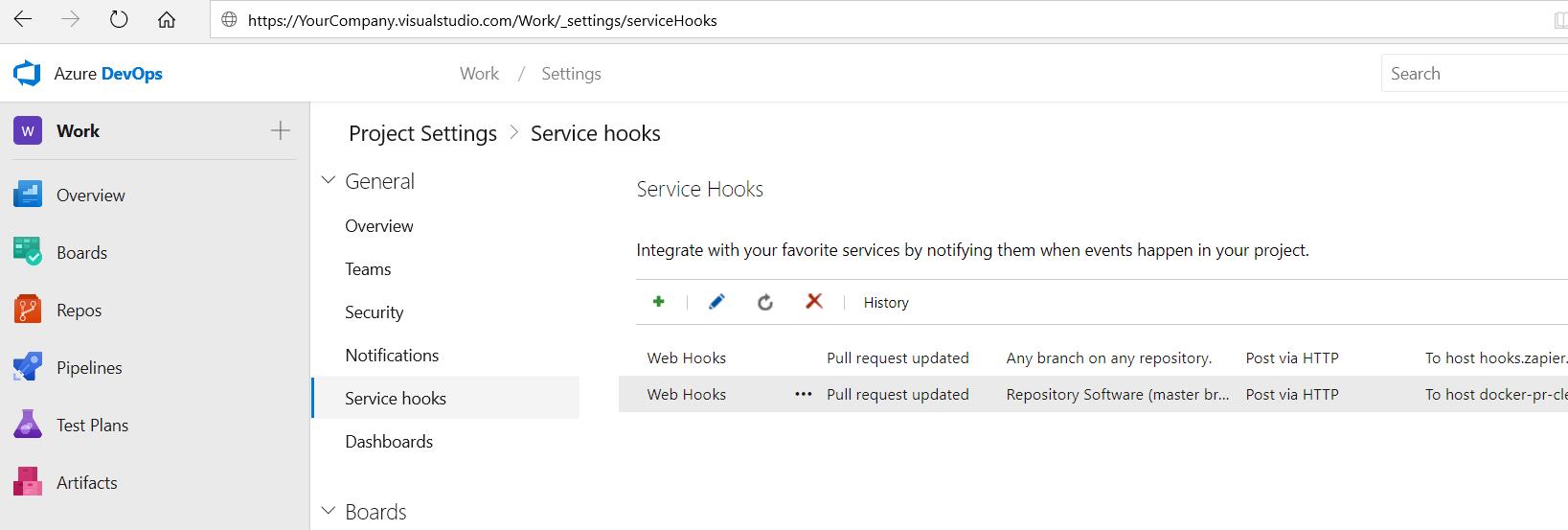 ServiceHook